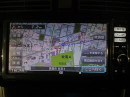 7インチフルセグTVナビゲーション TV画像のきれいなフルセグTV、CD、DVD、FM/AMも視聴できます。ブルートゥース対応携帯電話でのハンズフリー通話ができます。専用アプリ使用でスマホ連携も可能