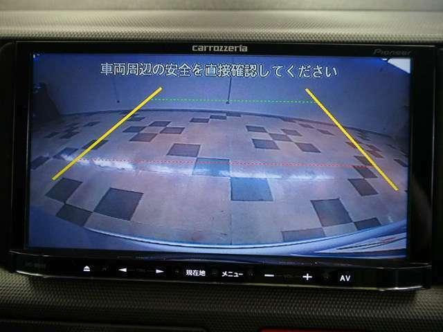 駐車の際に便利なバックカメラ付き!