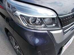 LEDヘッドランプ装備で、明るく安全に夜道もサポートしてくれます。