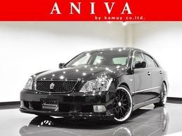 トヨタ クラウンアスリート 2.5 黒革 サンルーフ HDD 車高調 20AW エアロ