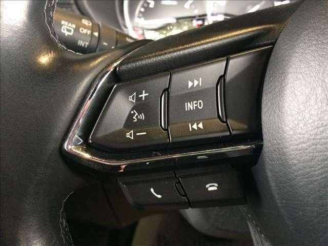 これは便利♪手元で楽々操作で安心の、ステアリングスイッチ付き♪