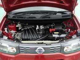 エンジンルームまでピッカピカ♪自社民間車検工場完備!経験豊かな整備士が丁寧に整備いたします。