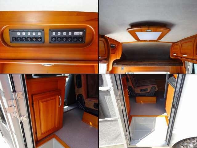 FFヒーター・燃料式 DC冷蔵庫・コンプレッサー式 シンク・ポリ容器 電子レンジ