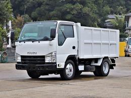 いすゞ エルフ 3t 深ダンプ 4WD 全低床 4ナンバー SDG-NKS85AN