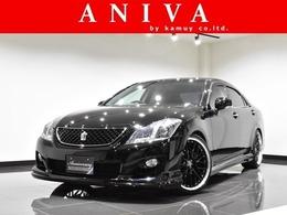 トヨタ クラウンアスリート 2.5 ナビパッケージ 黒革HDD新品車高調新品20AW新品エアロ1オナ
