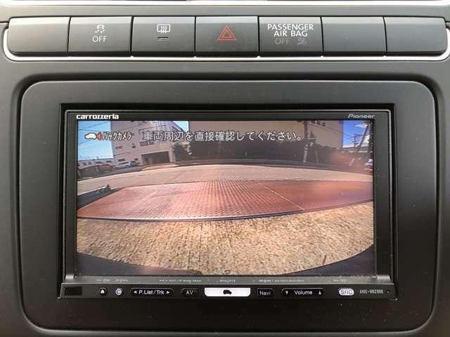 バックモニター搭載で車庫入れ安心!バック中の死角部分がモニターに映し出されるので安全性アップ