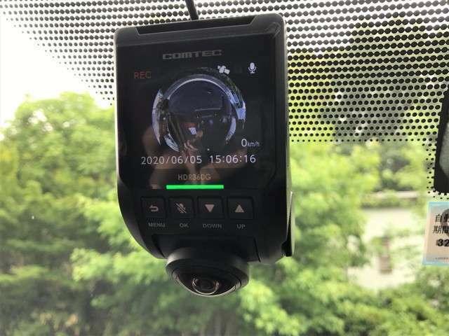 COMTEC 360度 GPS搭載 ドライブレコーダー 駐車監視機能付 事故防止と防犯に役立ちます。