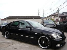 トヨタ クラウンアスリート 2.5 プレミアムエディション 19AW 車高調 黒本革シート HDDナビ