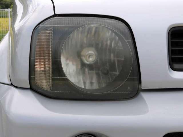 【ヘッドライト】ライトは使用していると徐々に曇ってしまいます。当店はヘッドライトを磨きコーティングしてからご納車致しますので、ご安心ください。