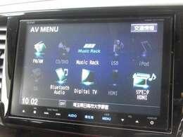 ギャザズ8インチメモリーナビ(VXM-155VFEi)を装着しております。AM、FM、CD、DVD再生、Bluetooth、音楽録音再生、フルセグTVがご使用いただけます。初めて訪れた場所でも道に迷わず安心ですね!