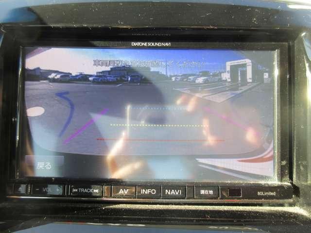 バックカメラは駐車の時に役にたちます