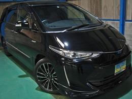 トヨタ エスティマハイブリッド 2.4 アエラス スマート 4WD プリクラWTV革TRDエアロ19AWモデリスタサス