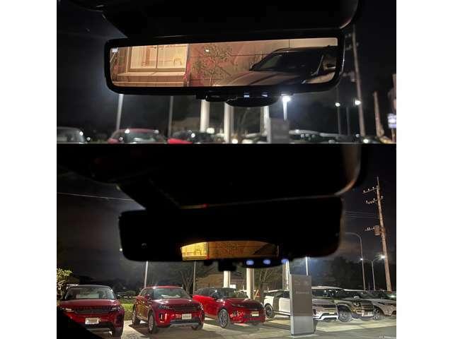 【クリアサイトインテリアリアビューミラー メーカーオプション参考価格¥102,000-.】ルーフアンテナに内蔵されたステレオカメラにより昼夜問わずクリアな後方視界を確保します。