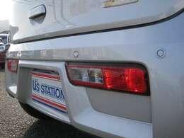 リヤパーキングセンサー付きです!バック駐車時に後ろの障害物との距離を音で知らせてくれます!