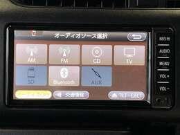 AM/FMラジオとCDチューナ-。Bluetooth対応したナビゲーションです