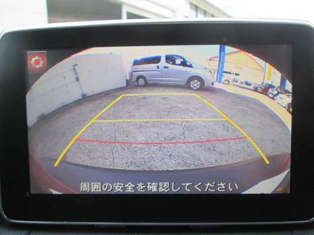 バックカメラも付いているので初めての場所や狭い駐車場でも安心です。