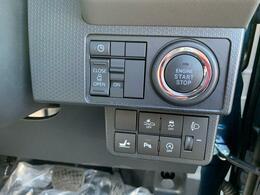 エンジン始動・停止は、プッシュボタン1つ!スライドドアの開閉もここで操作可能。