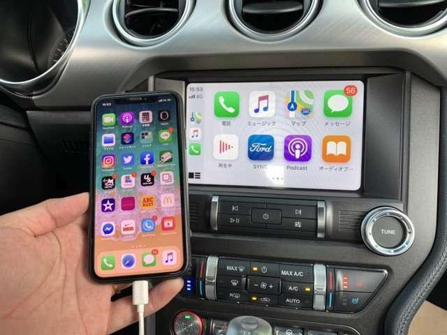 話題のAppleCarPlay & AndroidAutoを搭載。お手持ちのスマホが車両に連動、ナビやショートメール、ミュージックの再生などができます。