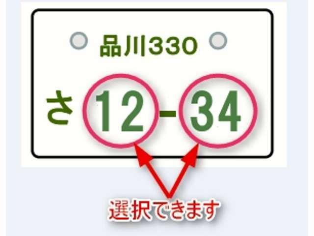 Bプラン画像:お好きな1ケタから4ケタの数字をお選びいただけます(一部抽選有り)車両本体価格100万円以上(税込)の物件は無料となります