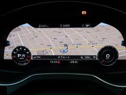 バーチャルコックピット『メーターパネル内に高解像度の12.3インチ液晶ディスプレイを配置。ディスプレイ内に地図が表示され、ナビゲーションの確認の際にドライバーは視線の移動を少なくすることができます。』