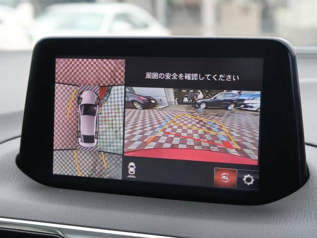 【360度ビューモニター】便利な【バックモニター】も装備されております。