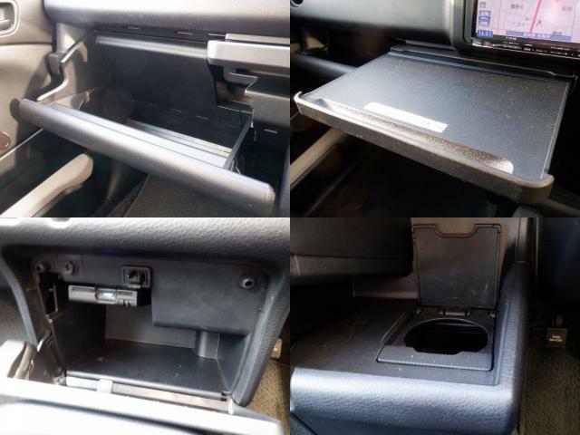 車検証入れ等書類一式を収納できるグローブボックス