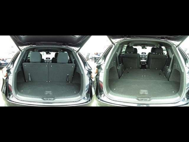 トランクルーム!3列目シートは片方ずつ前方へ倒せます。乗車員数や積む荷物に応じてアレンジが可能ですので多彩に使えてとても便利です。