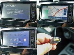KENWOOD製Blueetooth、USB対応のフルセグメモリーナビ『MDV-D505BTW』付きです