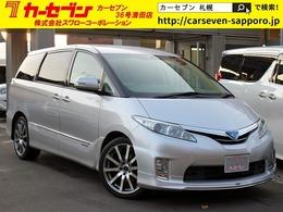 トヨタ エスティマハイブリッド 2.4 X 4WD 中期 7人 HDD モデリスタ 左右電動 1500W