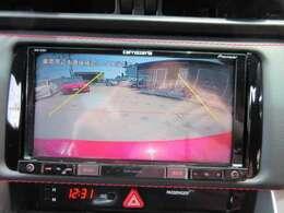 カロッツェリアメモリーナビ付き♪ バックカメラで駐車も安心ですね♪ 広角のカメラでよく見えます♪