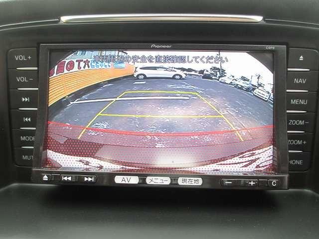 お車の駐車が苦手な方も安心のバックモニターです。あると嬉しい装備ですね♪