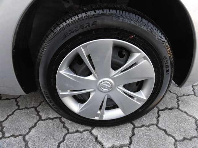 純正は14インチのタイヤサイズとなります。
