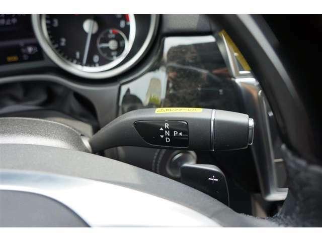 最新の7速オートマティックトランスミッション「7G-TRONIC PLUS」 ATセレクターはステアリングコラムに装備されコンパクト