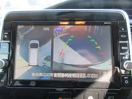 純正9型SDナビ♪ 9型、大画面のアラウンドビューモニター付きで死角も心配なく、安心して駐車ができます♪