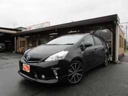 トヨタ プリウスα 1.8 S チューン ブラック フリップダウンモニター ETC 純正ナビ