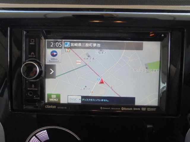 カーナビ:三菱純正ディーラーオプションナビ clarion GCX515 ナビワンセグTV(DVD/CD再生確認済み)ブルートゥース対応。