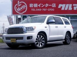 米国トヨタ セコイア リミテッド 5.7 V8 4WD 新並 BFタイヤ 8インチHDDナビ サンルーフ