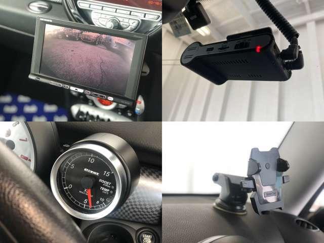 【HDDナビ&フルセグTV&バックカメラ】【ドライブレコーダー】【ブースト計】【携帯ホルダー】