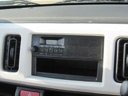 使いやすさにこだわった純正AM/FMラジオ[スピーカー内蔵]★移動時間にラジオで色々な情報をゲット!