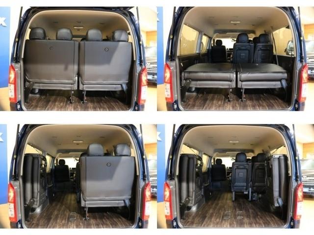 【ラゲッジスペース】左側ウォークスルーは後部座席の乗り降りが楽々!座席を上げればよりたくさんの荷物が積めちゃえます♪