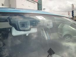 デュアルカメラブレーキサポート装着車 誤発進抑制機能・車線逸脱警報・ふらつき警報・先行車発進お知らせ