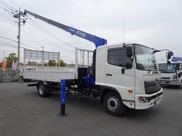 日野自動車 レンジャー 4段クレーン付 増トン 7.6t積み ワイド幅 ベッド付 ボディ長5.5m