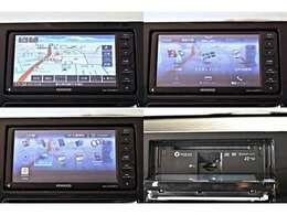 【ディーラー装着】7型メモリーナビゲーション(KENWOOD製 彩速ナビ MDV-D707BTW)+フルセグTV※Bluetoothオーディオ・ハンズフリー・USB対応/CD・DVD再生機能