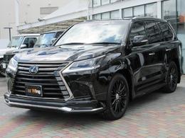 レクサス LX 570 ブラック シークエンス 4WD ワンオーナー モデリスタエアロ TRD21AW