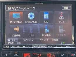 SDナビが装備されております♪各種オーディオメディアも充実しているので旅のお供にはピッタリだと思います!!