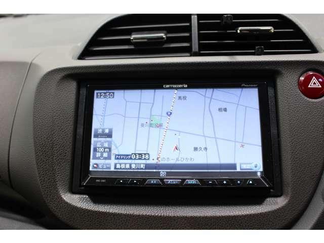 カロツェリアナビ(AVIC-ZH07) バックカメラ付で車庫入れや縦列駐車も楽々です。