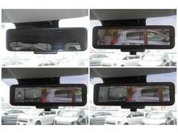 デジタルルームミラー&アラウンドモニター付きで駐車もラクラク!