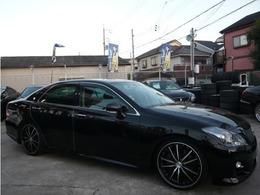 トヨタ クラウンアスリート 3.5 Gパッケージ 20AW 車高調 黒本革シート フルセグTV