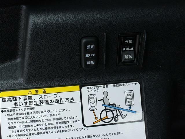 車椅子固定装置のスイッチになります!