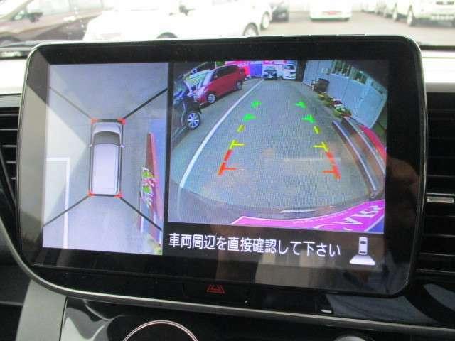 ★フロント/リアと左右ドアミラーに取り付けられたカメラの映像を加工して、上から見下ろした様な映像を作り出す「アラウンドビューモニター」付きなので、車庫入れなどもラクラク行えます☆